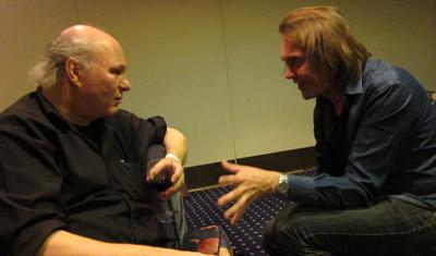 Gunnar Strøm and Maciek Szczerbowski discussing animation